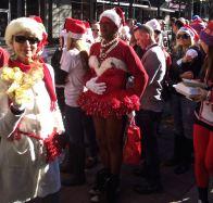 Atlanta, Santa Speedo Run, Baton Bob, Midtown, Peachtree, gay, gays raising money for charity, Everybody Wins, literacy
