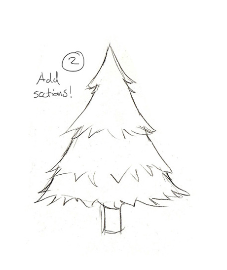 christmas tree lights drawing