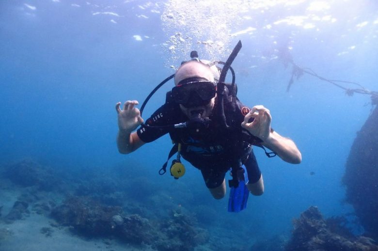 Scuba diving in Amed, Bali