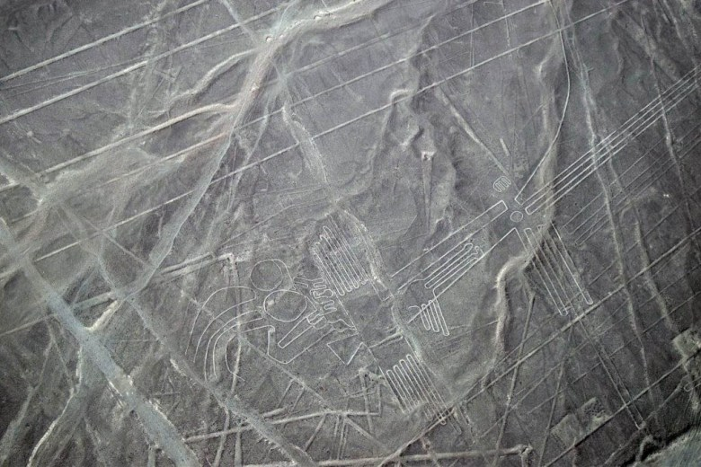 Nazca Lines: one of the famous geoglyphs in the desert