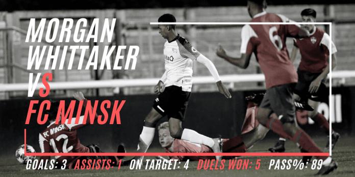 Morgan Whittaker vs FC Minsk