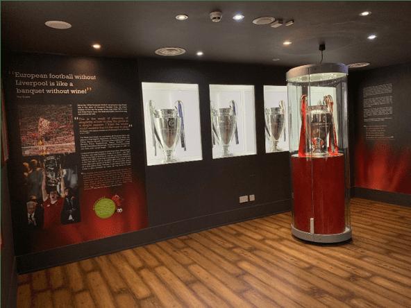 Liverpool's four Champions League trophies