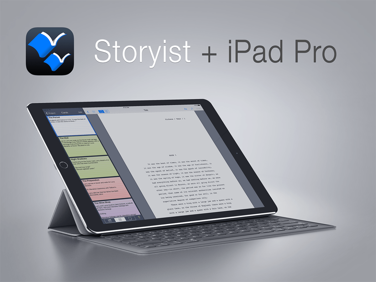Storyist and iPad Pro