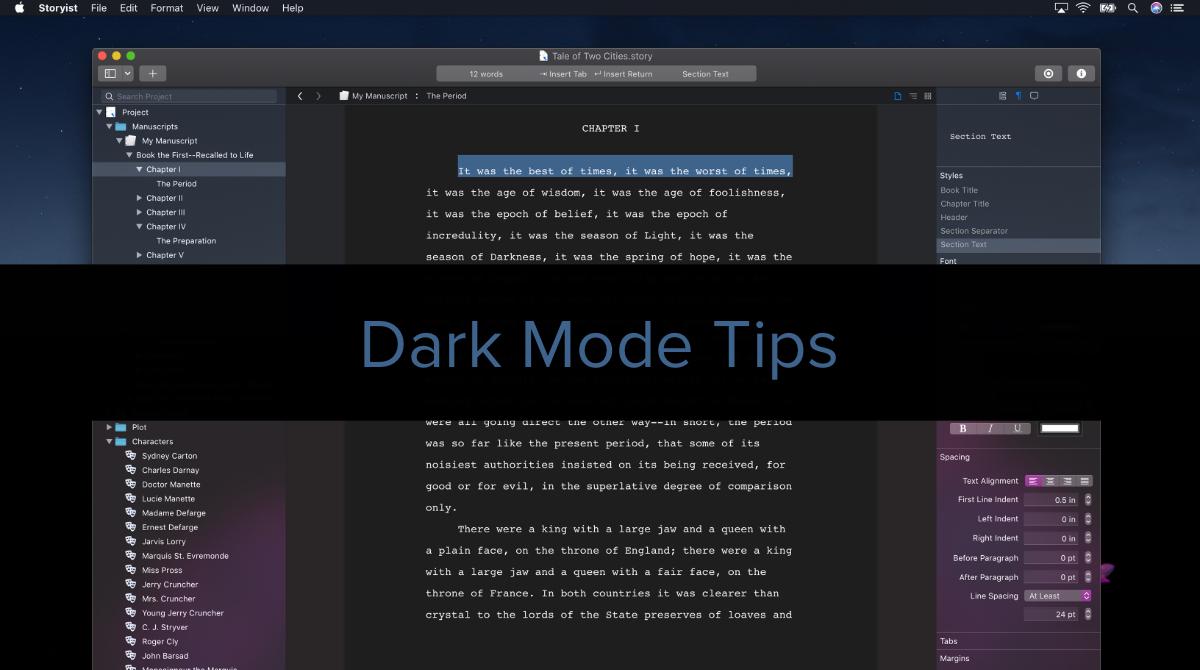 Dark Mode Tips