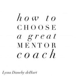 Find a mentor coach