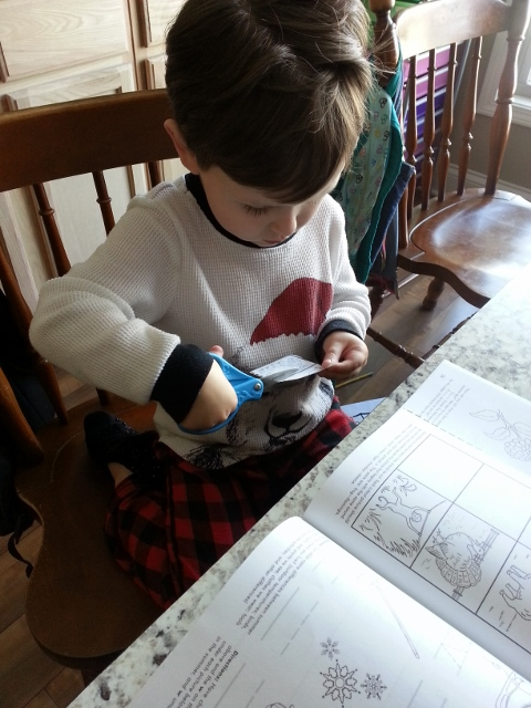 a little school time for Littlest