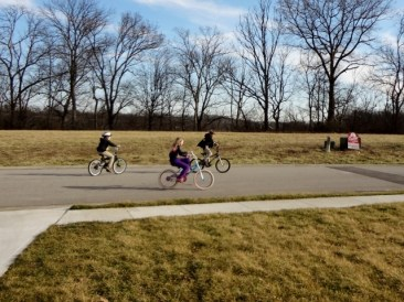 bike riding on a nice day with friend