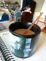 Look!!! I put my paint brush in my coffee!!!!