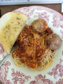 my husband made spaghetti
