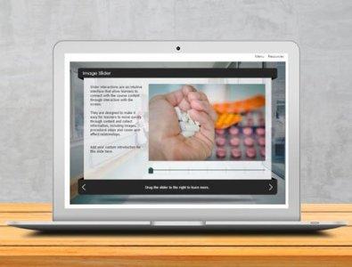 storyline e-Learning image slider template