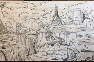 Overgrown Landscape Sketch