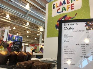 David McKee celebrates 30 years of Elmer with a branded cafe.
