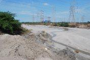 Fly ash contaminates the buckingham canal