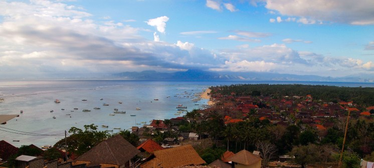 A view on the 'civilized' part of the Island with Lombok in the distance.