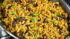E8: Tasty Beef Pelau   Caribbean Pot