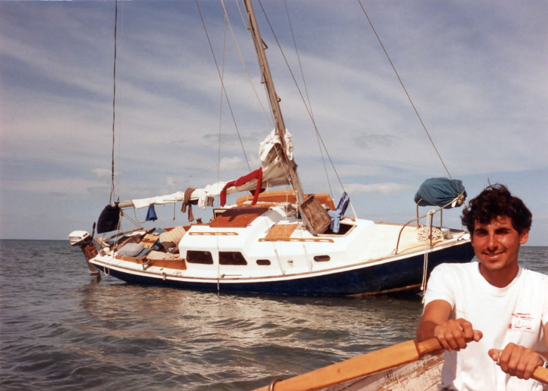 Aground in the Bahamas, 1991