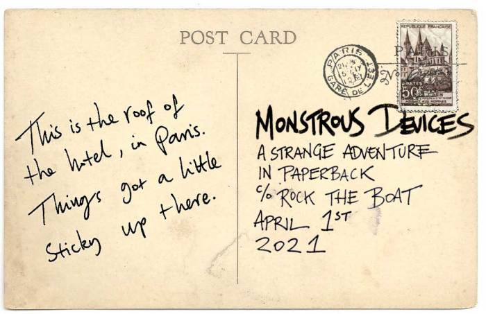 Monstrous Devices Paris postcard - Story Snug