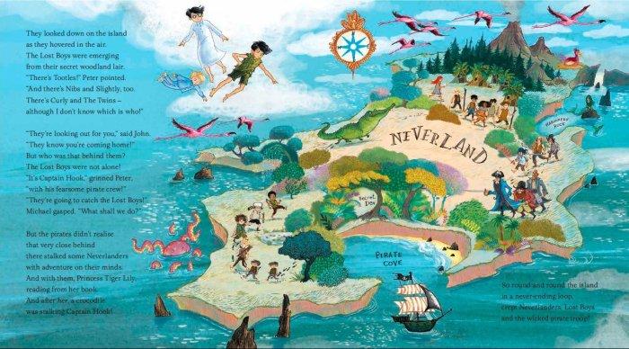 Peter Pan Map of Neverland - Story Snug