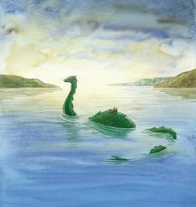 Children riding Nessie - Treasure Of The Loch Ness Monster - Story Snug