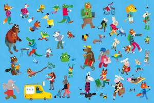 Raj and the best day ever endpapers - Story Snug
