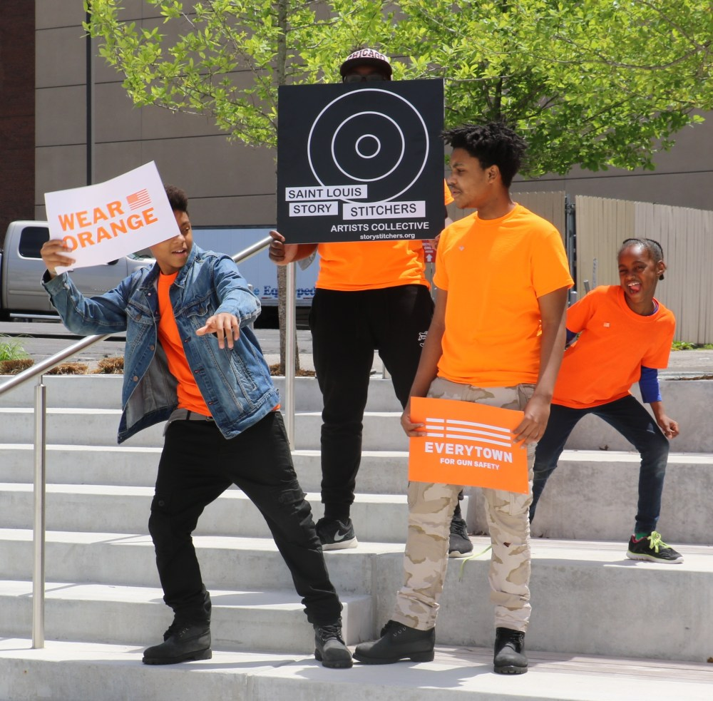 Story Stitchers are Turning Orange for National Gun Violence Awareness Day, June 2nd. Photo Susan Colangelo