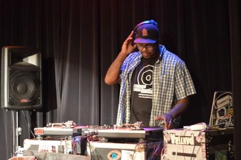 DJ Pome keeps energy high. Photo S. Colangelo. c Story Stitchers