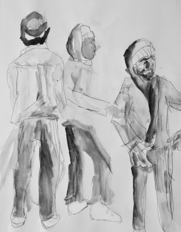 Josgua's drawing of Anthony dancing