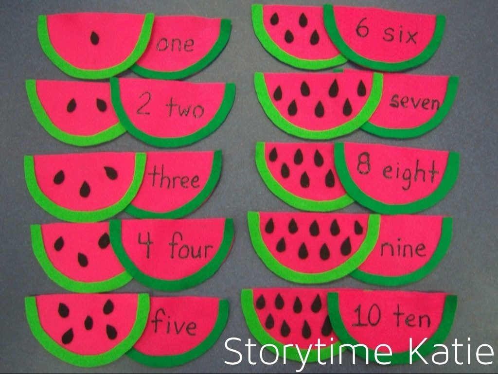 Flannel Friday Watermelon Storytime Katie