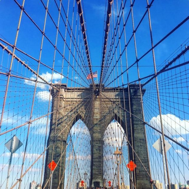 Typical snapshot of Brooklyn Bridge was a must- New York travel tips