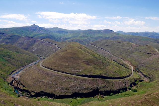 The landscape near Mohale Dam - Lesotho travel tips