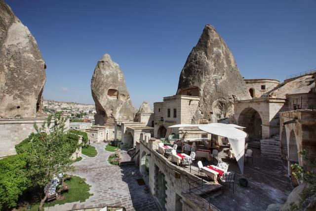 Cave hotels in Cappadocia anatolian cave hotel