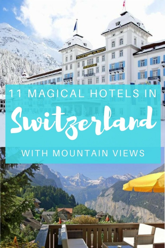 Stay at one of these magical hotels in Switzerland with unparalleled mountain views and make your winter getaway one to remember... (Click through to read)