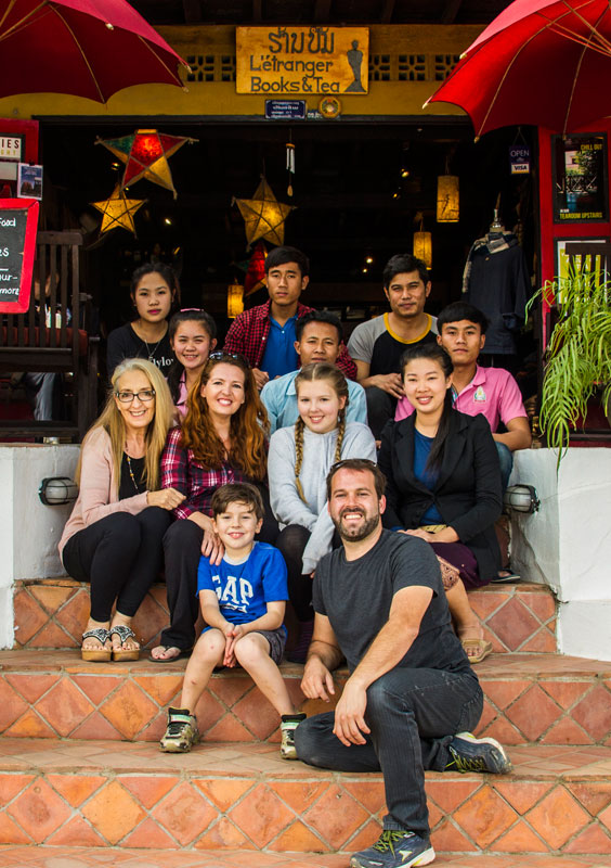 Isabel, founder of the Ultimate Dream Life Abroad competition with family and staff