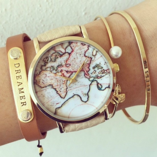 GLOBETROTTER World Map Watches available on SHOP StoryV