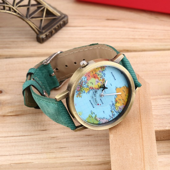 OCEANA World Map Watches available in black, white, brown, blue, green, yellow and pink on SHOP StoryV