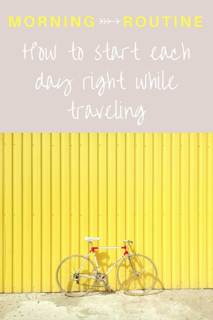 Having a morning routine is the first step towards a better day & healthier life. Even more so when you're traveling because it's so energy consuming. But follow this morning routine for travelers and you'll feel a positive difference! Click through to read...