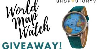 To celebrate the launch of our brand new travel gift store, SHOP STORYV, we're giving away a bunch of amazing world map watches! Click through to get yours!