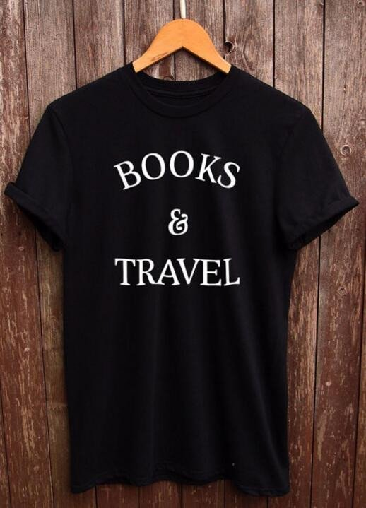 Books and Travel Women's Tee - Summer Travel Gifts For Female Travelers