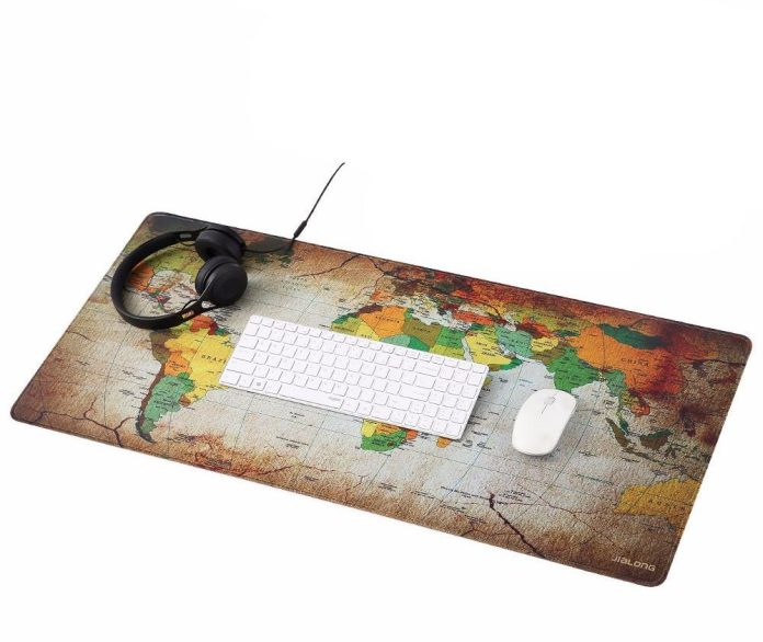 Colourful World Large World Map Mouse Pad - Summer Travel Gifts For Female Travelers