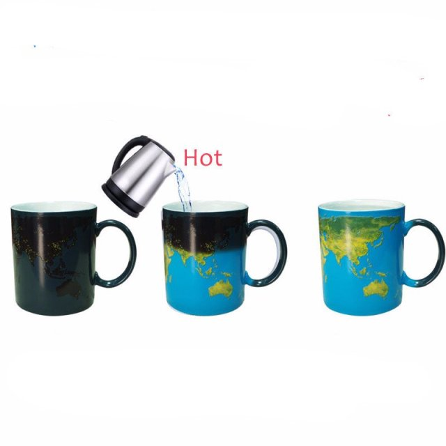 Discover Colour Change World Map Mug - Summer Travel Gifts For Female Travelers
