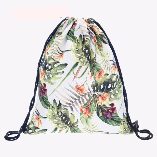 Into The Tropics Drawstring Travel Bag - Summer Travel Gifts For Female Travelers