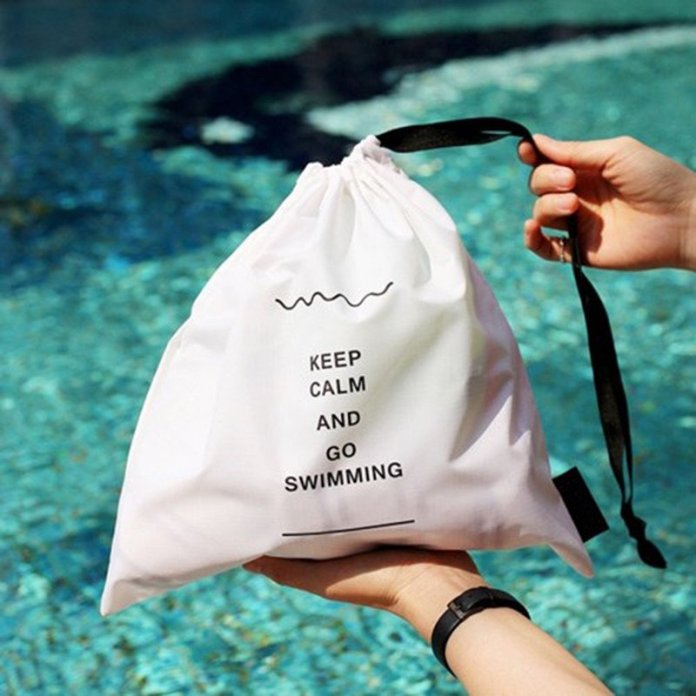 Keep Calm & Go Swimming Waterproof Pouches - Summer Travel Gifts For Female Travelers