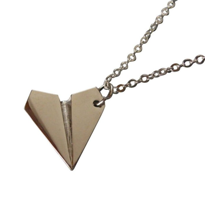 Paper Airplane Necklace - Summer Travel Gifts For Female Travelers