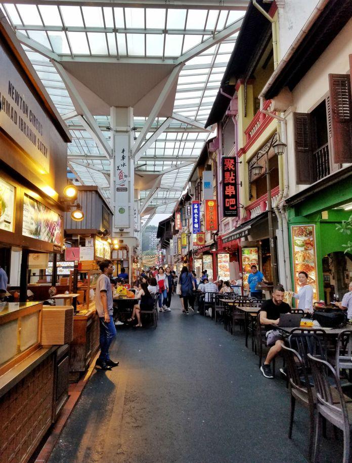 48 hour Singapore travel itinerary: Chinatown Food Street