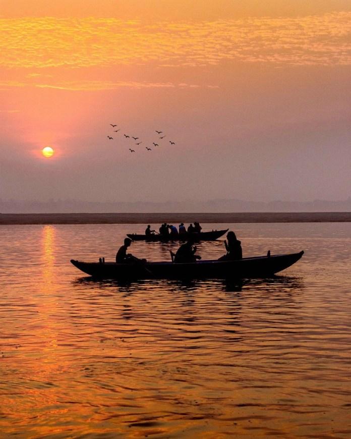 Benaras, also known as Varanasi, at sunrise