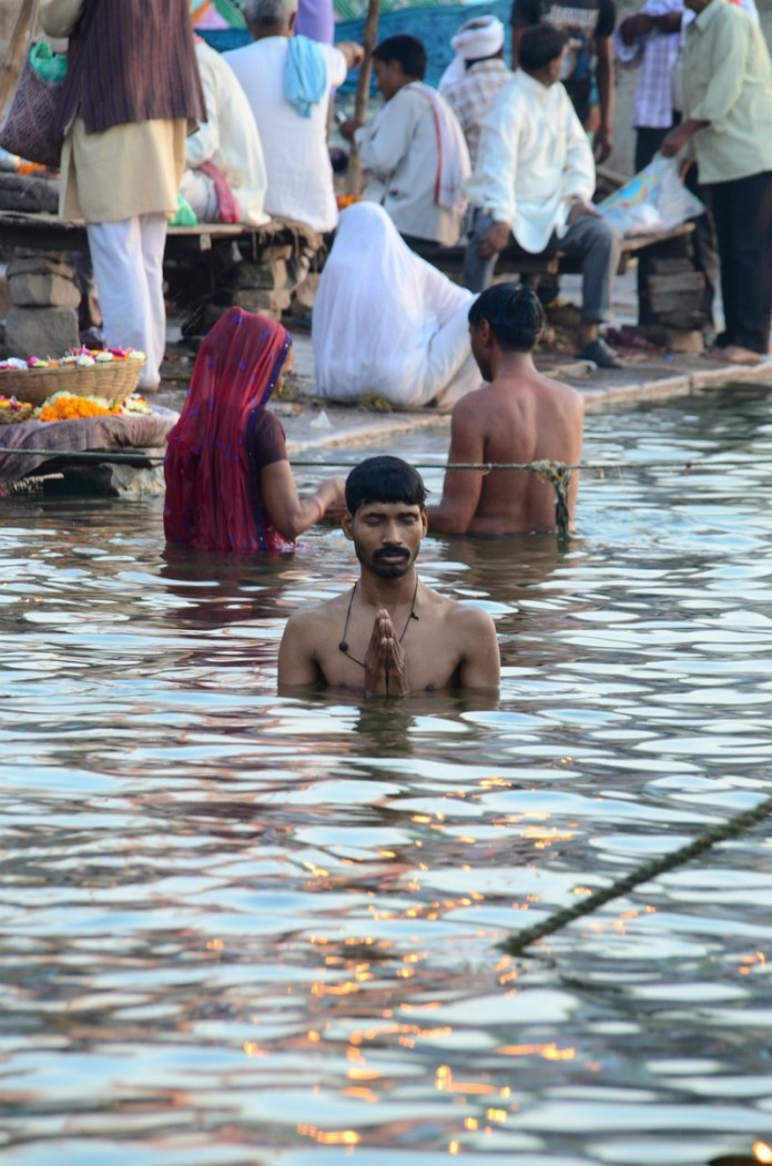 Benaras, also known as Varanasi, is home to the Ganga - a holy river where people soak for spiritual reasons