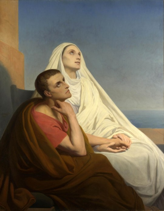 Monica and her son Augustine - Ary Scheffer 1846