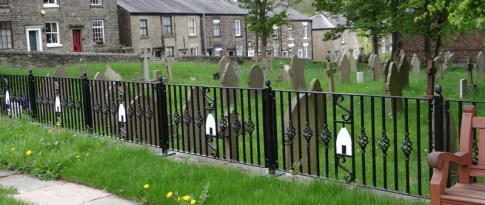 """The boundary fence looks splendid with its """"White Nancy"""" theme."""