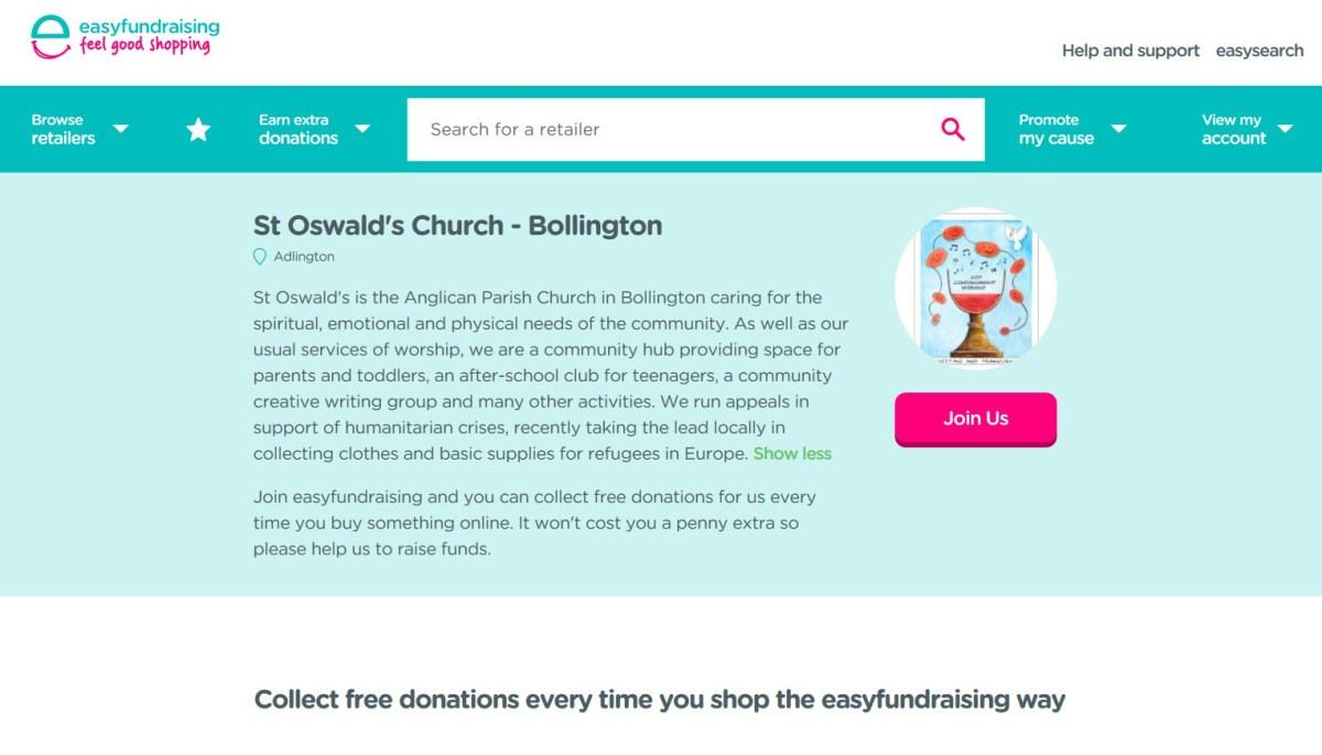 Raise funds for St Oswald's every time you shop online!