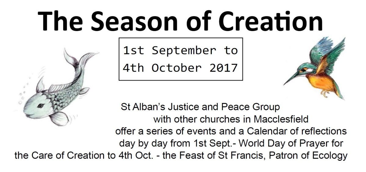 Season of Creation: 1 September – 4 October 2017